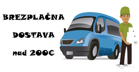 Brezplačna dostava za naročila nad 200 eur