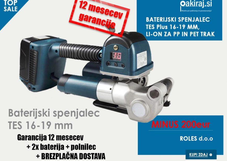 baterijski spenjalec tes plus 16mm 19mm poceni cena