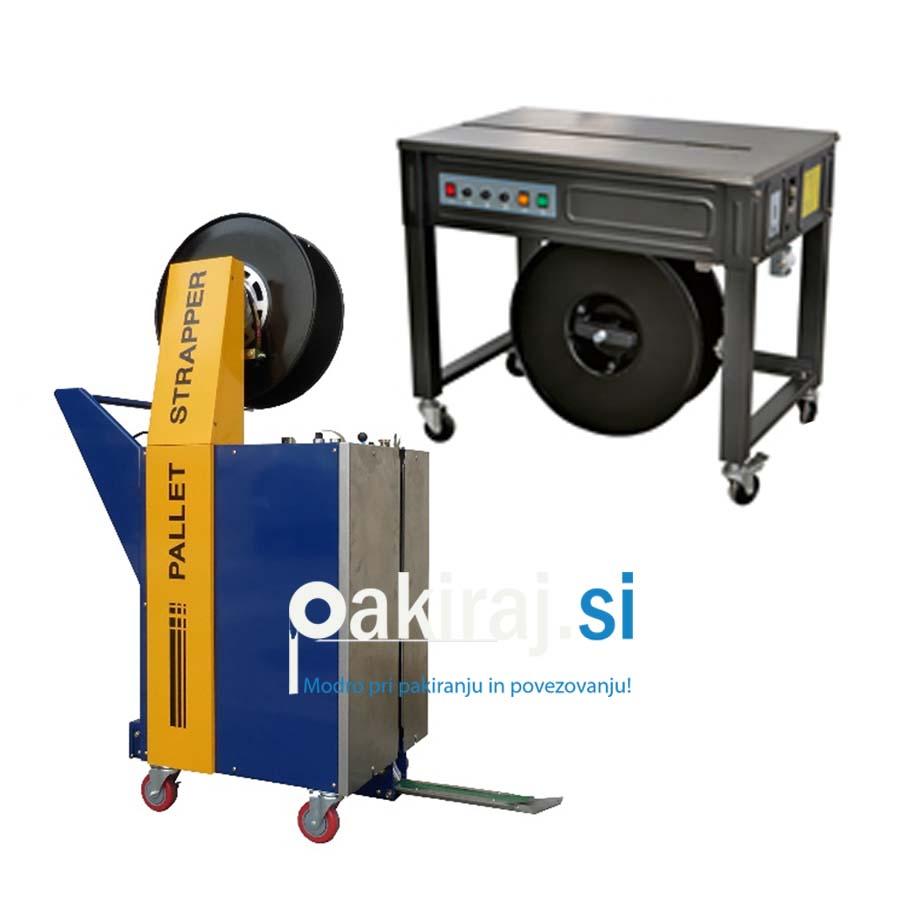 Povezovalni in pakirni stroji za plastični trak