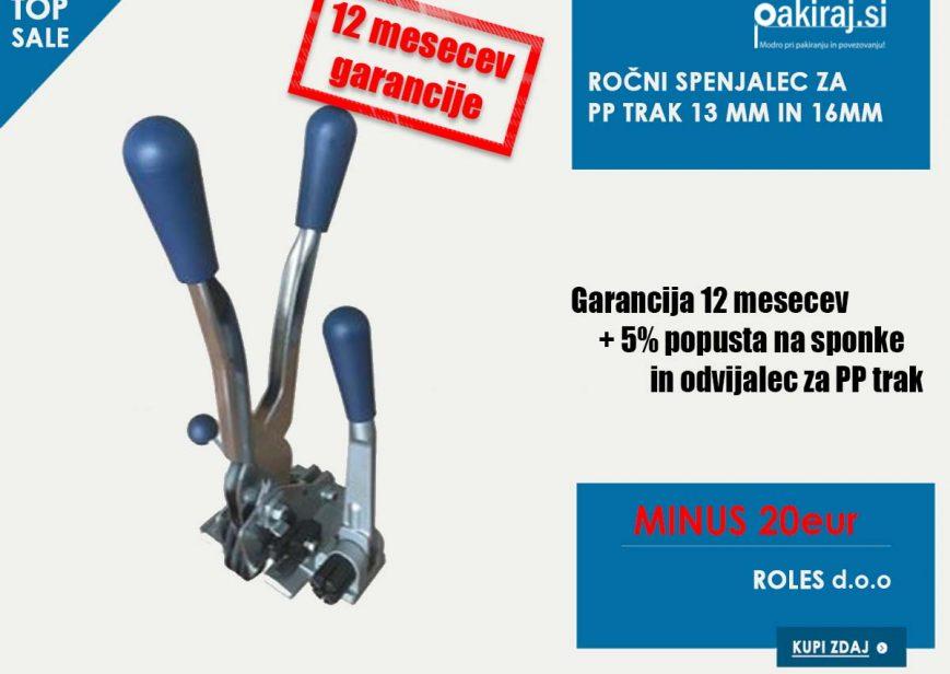 Ročni spenjalec za PP trak 13mm in 16mm akcija cena poceni