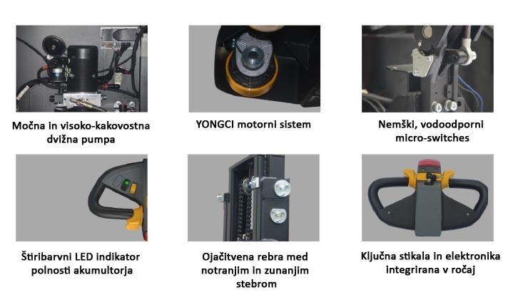 Električni viličar specifikacije