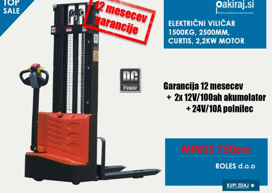 Električni viličar v akciji - ugodna cena